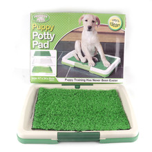 New Arrival Indoor Dog Toilet Mat Puppy Potty Pad Training Seat Tray Dogs Toys Play Fake Grass Pet Supplies Products(China)