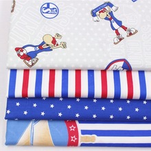 1610720, 50cm * 50 cm 6 styles mixed cartoon series cotton fabrics, making cushions cushion, children's clothing, bedding.(China)