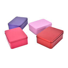 1 pcs Multi-Colors Chocolate Box for Kids Children Rectangular Square Metal Tin Box Candy Box Wedding Gift Supplies(China)