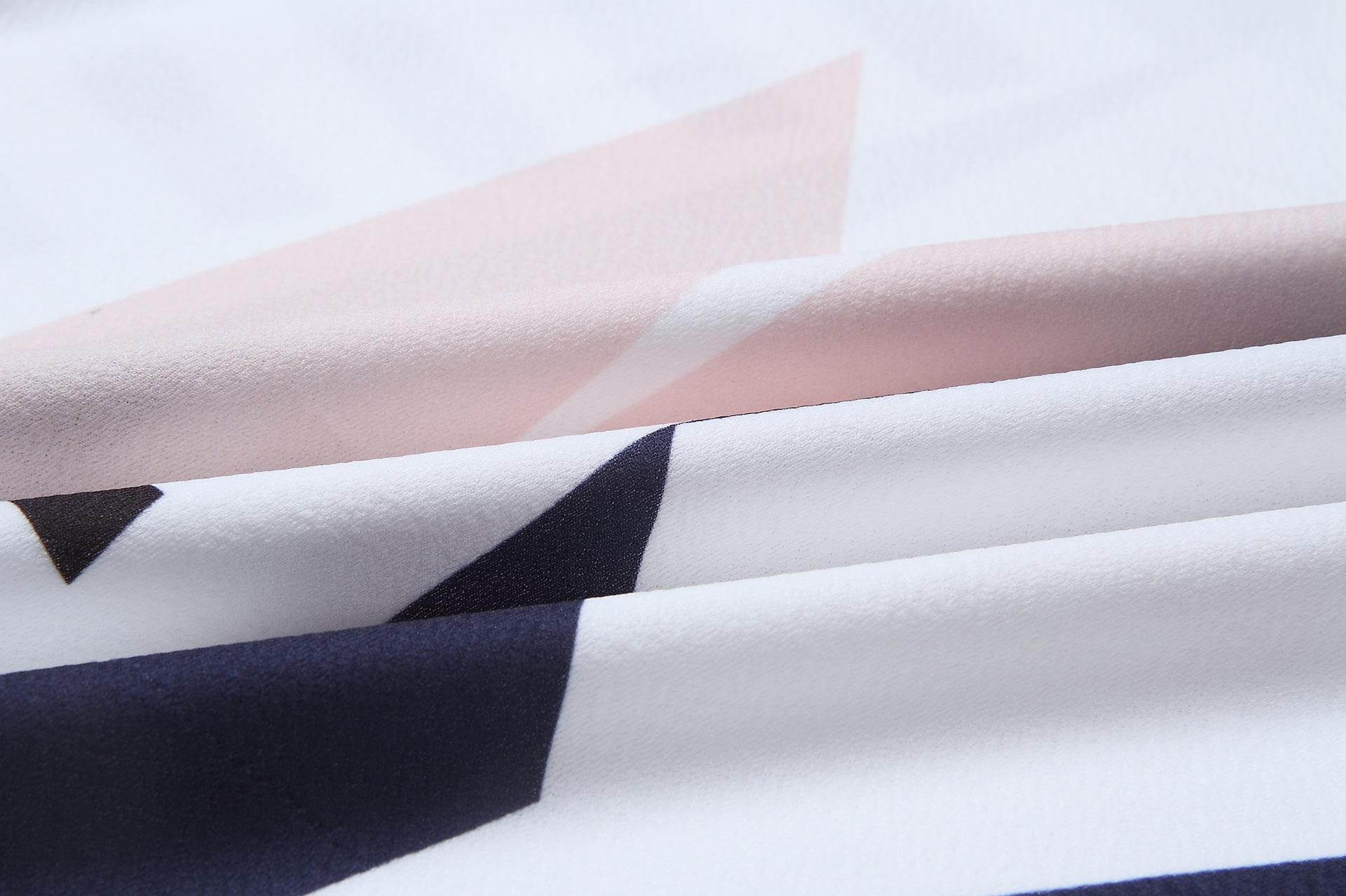 2018 Summer Dress Women Print V Neck Short Sleeve Robe Female Dresses Casual Sashes Midi Dress Ladies Elegant Vestidos Dropship 10