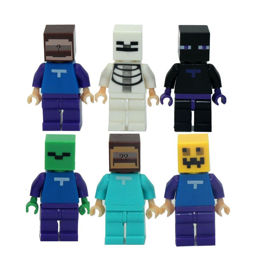 6pcs/lot Game Mine Kid Baby Toy Mini Figure Building Blocks Sets Model Toys Minifigures Brick #SSJR18390<br><br>Aliexpress