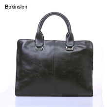 Bokinslon Business Bags For Mens PU Leather Popular Man Handbags Bags Reto Fashion Male Brand Hansbags(China)