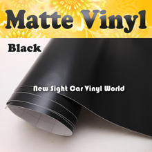 High Quality Black Matt Car Wrap Vinyl Film Matte Black Vinyl Wrap Bubble Free Car Wrapping Size:1.52*30m/Roll(China)