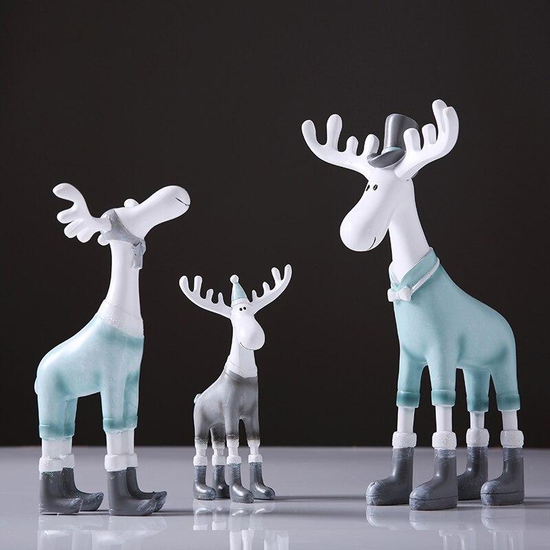 White Deer Christmas Xmas Reindeer Kid Doll Decor Home Ornament  Classical