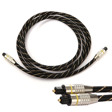 Digital Optical Audio Cable Fiber Toslink Male Optic Cable OD6.0 Toslink Male to Toslink Male for CD DVD(China)