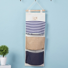 Special offer Wall Mounted 3 pocket Storage Bags bathroom kitchen supplies Fluid Systems Multilayer Pouch Storage Bags#T025#