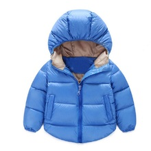 FREE 2016 NEW Winter Casual Boys girls jackets & coats baby down outerwear Casual warm hooded Children Down Parkas Kids clothes