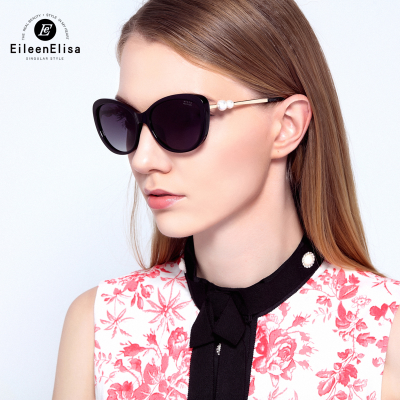 2016 EE Sunglasses Women Brand Designer 5340 Polarized Lens Cat Eye Glasses Oculos De Sol Female Sunglasses With Pearl <br><br>Aliexpress