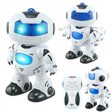 Electric Space Dancing Humanoid Robot Toy Dancing Musical Walking Light Remote Control Robot Toy Kid Children