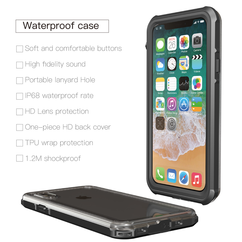 for iphone X waterproof case (16)