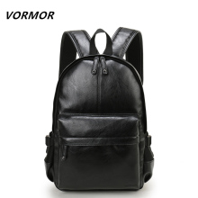 VORMOR Brand Preppy Style Leather School Backpack Bag For College Simple Design Men Casual Daypacks mochila male New(China)