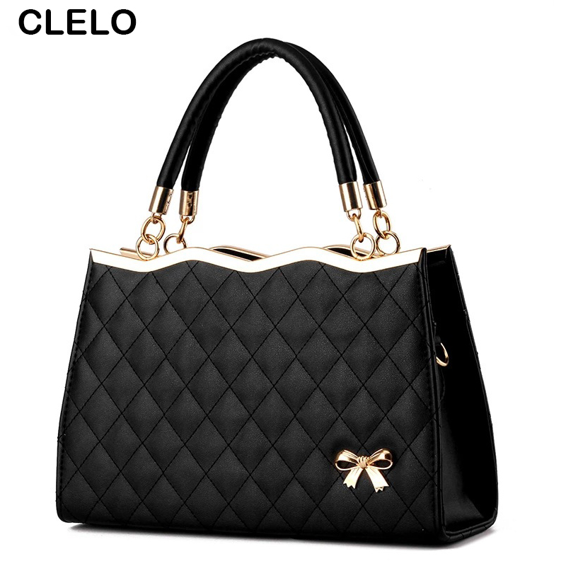 CLELO Fashion Women Bag Diamond Lattice Designer totes High Quality PU Women Messenger Bags Candy Color Shoulder Bags<br><br>Aliexpress