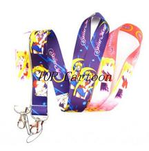 Free Shipping 20 Pcs Popular Japanese Anime Sailor Moon Mobile Phone Neck Straps Keys Camera ID Card Lanyard  T28