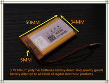best battery brand Free shipping new GPS 503450 1200mah lithium-ion polymer battery 3.7V MP3/4 navigation intelligent water mete
