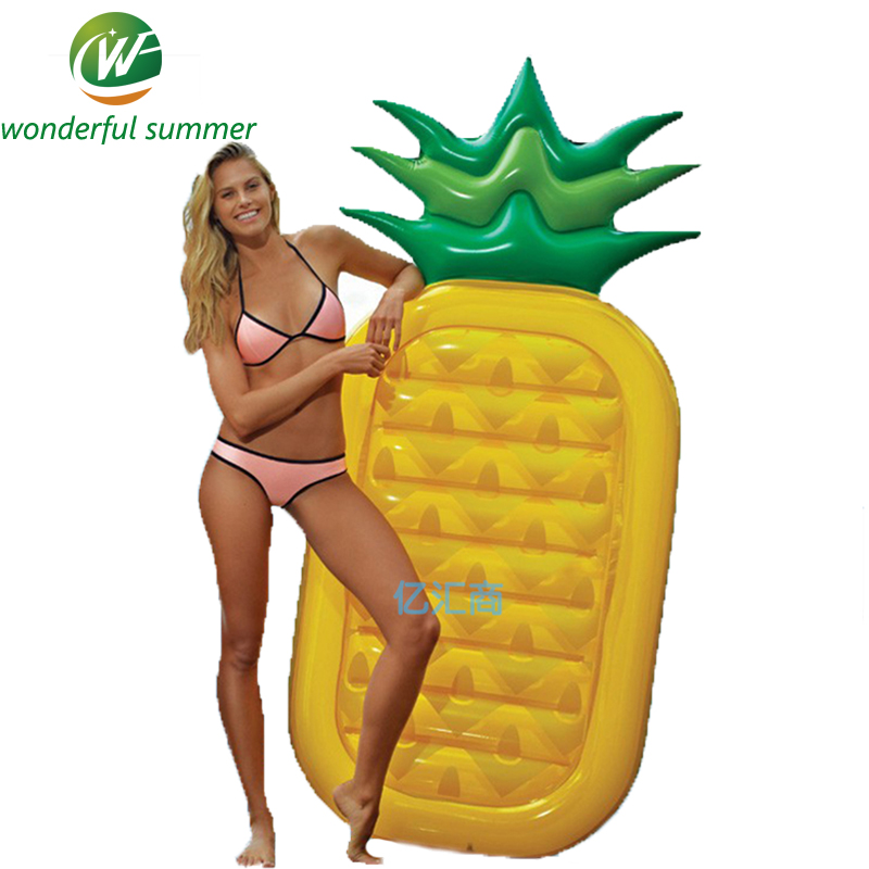 Pineapple Inflatable Pool Floats Adult Swimming Board Beach Water Floating Island Raft Air Mattress Planche Natation 180*90*20CM<br>