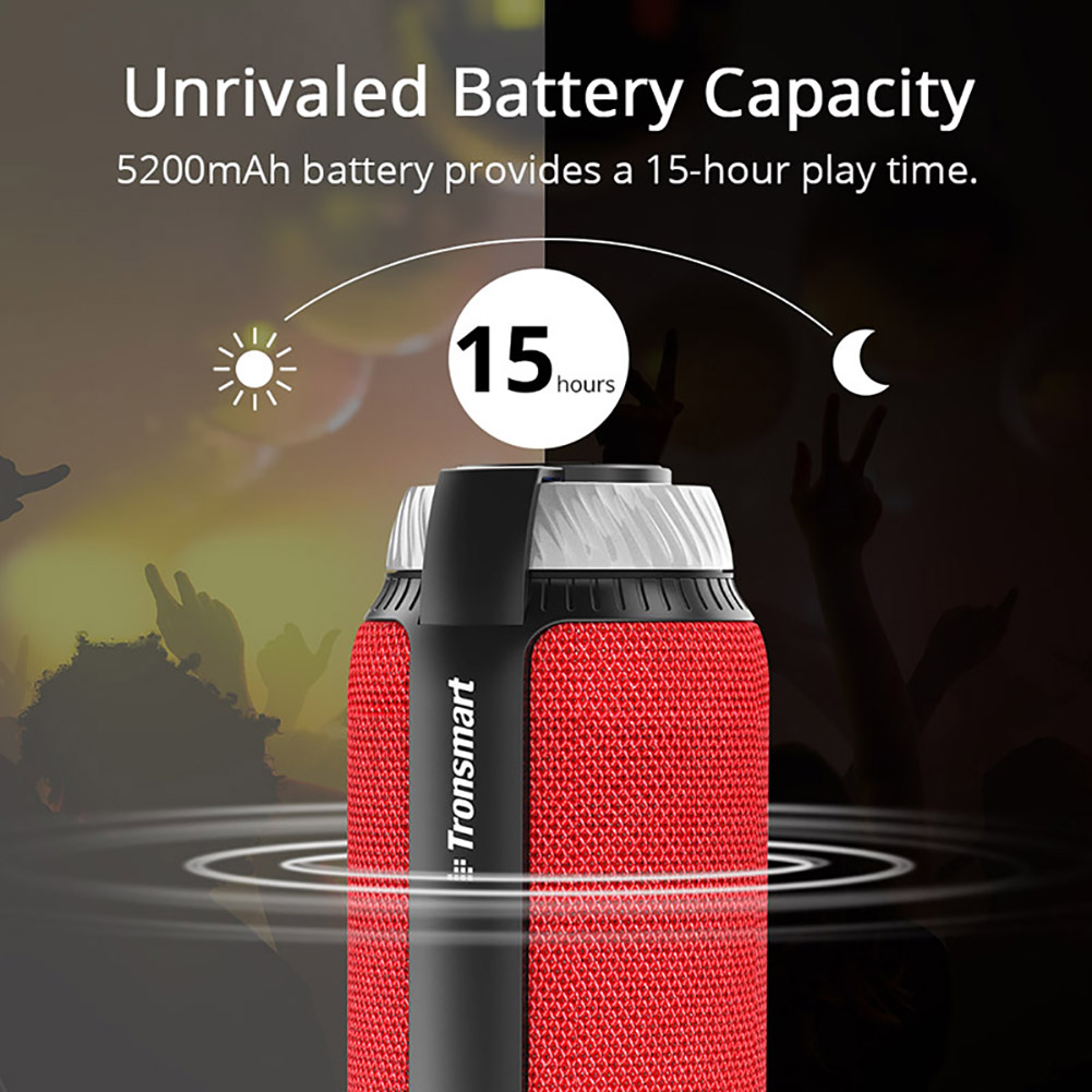 Bluetooth 4.1 Portable Speaker (Red) 4