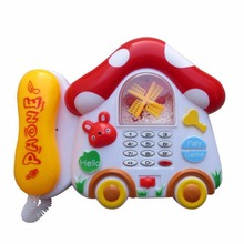 Cute Mini Mushroom Shape Music Phone Toy Baby Kids Electric Flashing Toy Phone Educational Musical Sounding Toy
