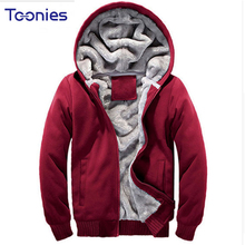 2017 Mens Hooded Hoodies Men Sweatshirt Fashion Hoody Thick Warm Hoodie Cotton Sweat Homme Outerwear Plus Size Sudaderas Hombre