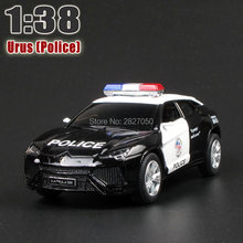 High Simulation 5 Inch URUS SUV 1:38 Alloy Diecast Model Car Toy Police Car Collection For Boy Children As Gift