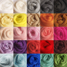 10g/bag for 26 Colors Merino Wool felt Fibre Roving For Needle Felting Hand Spinning DIY Fun Doll Needlework(China)
