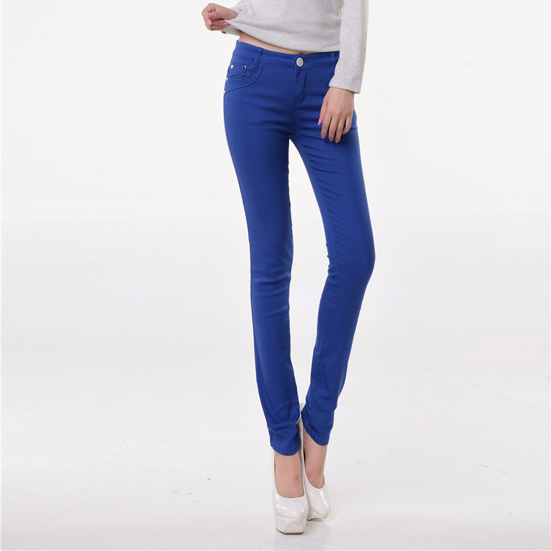 New Arrival Girls Jeans Womens Pants Sexy Spring Elastic Candy Colored Pencil Pants Slim Trousers 20 ColorsОдежда и ак�е��уары<br><br><br>Aliexpress