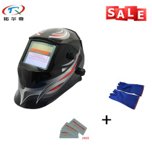 Solar Glass Filter New Model Gift Gloves Electronic Custom Cool Adjustable Auto Darkening Welding Helmet TRQ-JD01-2233FF-BG(China)