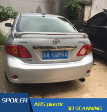 For Toyota Corolla Spoiler With lamp model ABS Material Car Rear Wing Primer Color Rear Spoiler For Toyota Corolla Spoiler