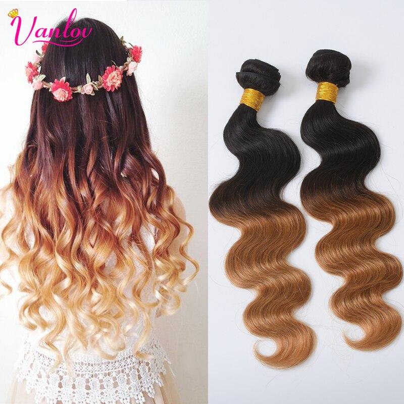 Ombre Human Hair Weave Blonde Virgin Hair 4 Bundles Malaysian Curly Hair Two Tone 1b/27 Ombre Malaysian Body Wave Virgin Hair<br><br>Aliexpress