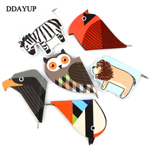 Kawaii Korean Bird Animal Paper Magnetic Bookmarks Portable Blue ballpoint pen Bookmark Stationery School Supplies(China)