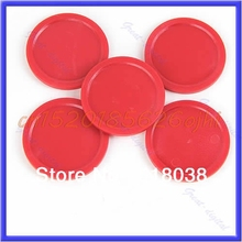 "M112- New 10pcs/lot Red Air Hockey Table Mini Puck 50mm 2"" Puck Children Arcade Game #H030#(China)"