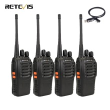 4pcs Professional Walkie Talkie Retevis H777 UHF 400-470MHz 3W Portable Ham Radio Hf Transceiver 2 Way Radio Communicator H-777