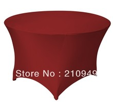 Free Shipping 30pcs 4 ft. Round Stretch Table cover spandex table covers round tablecloth wedding