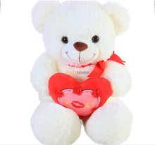 Fancytrader 37'' / 95cm Soft Stuffed Plush Jumbo Lovely Heart Teddy Bear Toy, 2 Colors Available, Free Shipping FT50701
