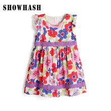 SHOWHASH new sales discount baby girl casual dress cotton floral dresses children clothing flower girls summer dresses