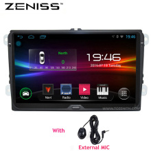 ZENISS Android 9 inch B6 B5 B7 Passat Car GPS Navigation without DVD For VW Golf GPS For VW Polo Car Stereo Radio GPS 67S