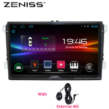 ZENISS Android 9 inch B6 B5 B7 Passat Car GPS Navigation without DVD For VW Golf GPS For VW Polo Car Stereo Radio GPS 67S(China)