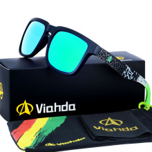 Viahda 2017 Brand New Sunglasses Men Cool Travel Sun Glasses High Quality Eyewear Oculos Gafas With box