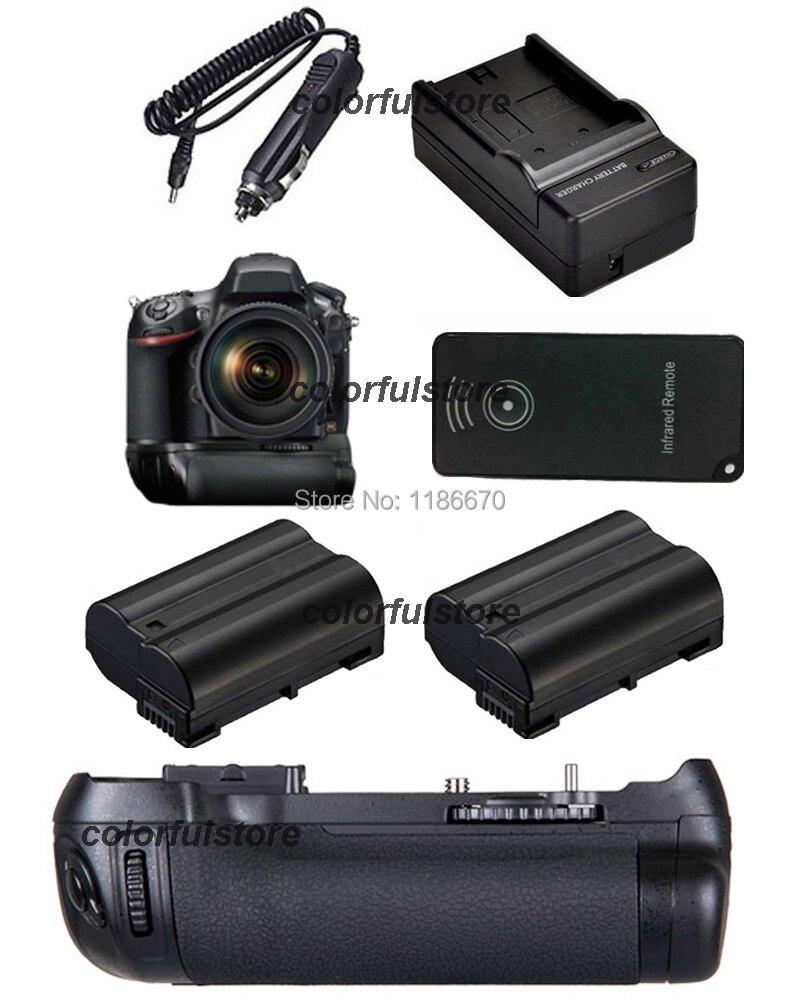 New 2-Step Vertical Power Shutter Battery Hand Grip Holder For Nikon D600 D610 Camera as MB-D14+IR Remote+2x EN-EL15+Car Charger<br><br>Aliexpress