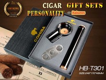 Original Cohiba  Knight Metal mini ashtray cigar cutter Top High quality cigar tube beautiful gift business gift sets profession