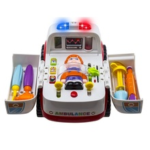 Car Toys For Children Ambulance Car-styling Simulation Toys Brinquedos Bebe Electric Vehicle Kids Toy Baby Early Educational(China)