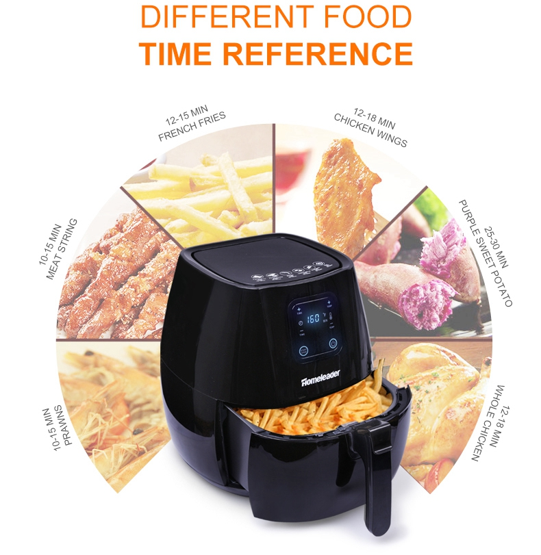 Electric Air Fryer Oil Free Deep Fryer LCD Display Kitchen Appliances