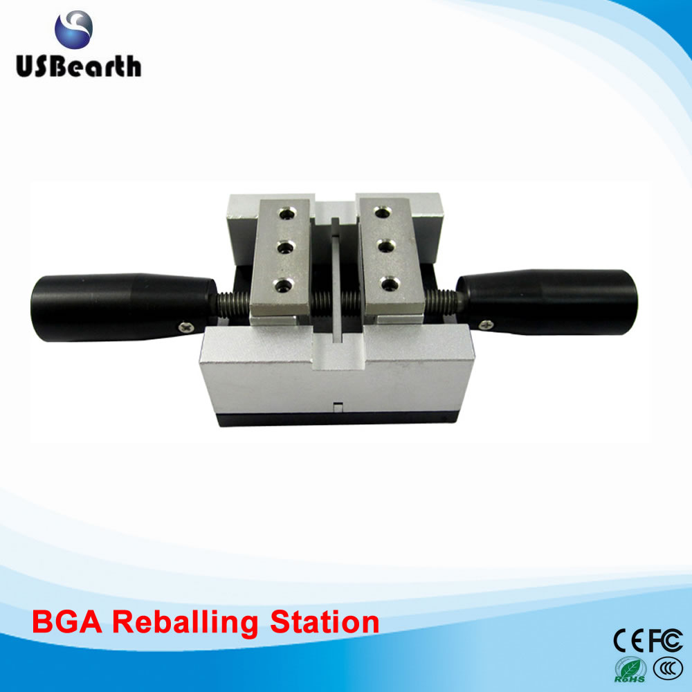 Direct heat reballing station with handle, direct heating BGA stencils holder <br>