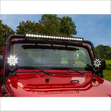 "51W 7"" Red Black Spot Flood Round Led Work Light Off Road Fog Driving Roof Bumper for SUV Boat Marine Mining Auto Car Truck(China)"