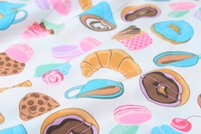 140*50cm Cup Cake Maccaron Chocolate Dessert cotton Fabric Child baby Clothes/Diy Handmade Craft Bedding Home Cloth Purse Quilt