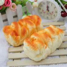 10CM Cute Simulation Bread Squishy Slow Rising Kawaii Soft Squeeze Cell Phone Strap Scented Bread Cake Stretchy Toy Gift Pendant(China)