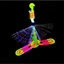 2017 NEW LED Light Fiber Rocket Arrow Flashing Helicopter Flying Toy Party Fun Gifts For Kids Birthday Party Supplies