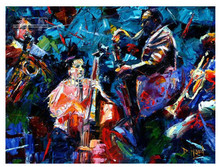 jazz Modern Contemporary Original Abstract Art Canvas African American Art JAZZ SAXOPHONIST No.03(China)