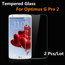 2 Pcs Tempered Glass for LG Optimus G PRO2 2 F350 D838 Arc Edge 2.5D Anti Fingher Print Transparent For LG g pro 2 5.9 inches