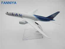 16cm Metal Chile Air Lan Airlines Boeing 737 B737 800 CC-COP Airways Plane Model Airplane Model w Stand Aircraft(China)