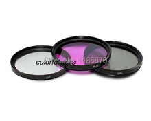 Brand New 3Pcs 67mm 67 mm UV CPL FLD Filter For Canon Nikon Olympus Pentax DSLR Digital SLR Camera 18-55mm Lens Lenses Camcorder